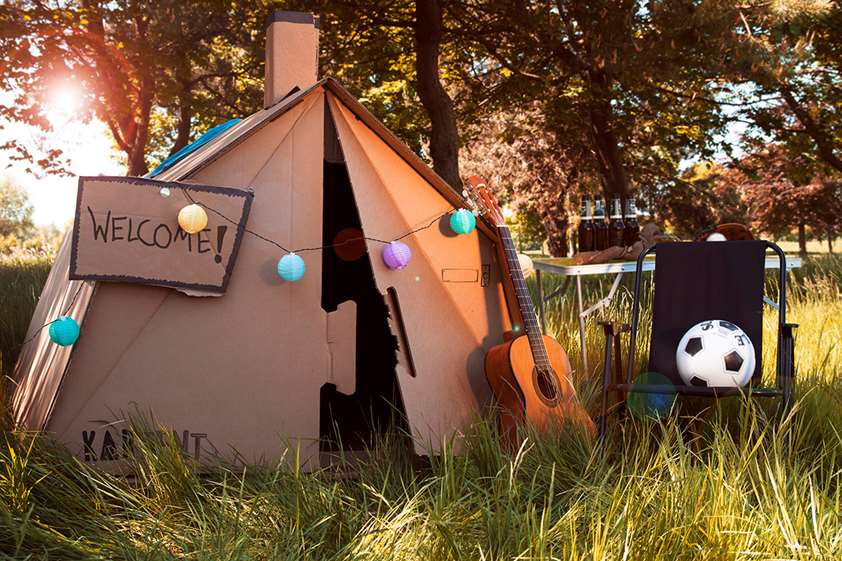 In the summer of '19, cardboard tents take centre stage